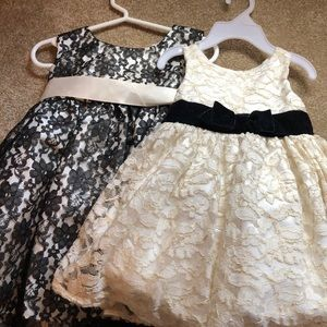 Two formal 12 month dresses